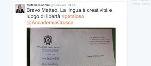 Il tweet del ministro Giannini.