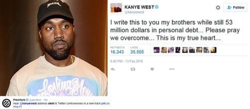 Kanye West - $53 Million in Debt