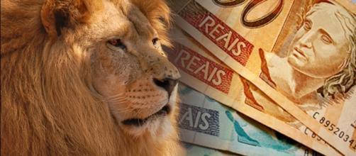 Leão simbolo do Imposto de Renda no Brasil
