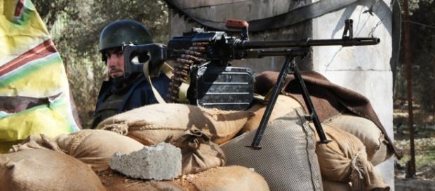 Un soldado de las Fuerzas Armadas de Siria