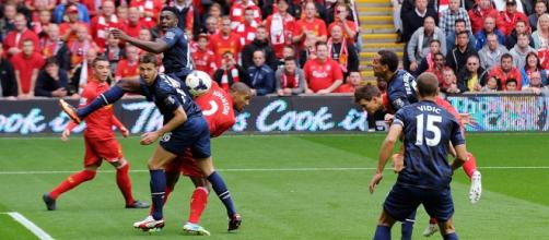 Imagen de archivo de un Liverpool-United.