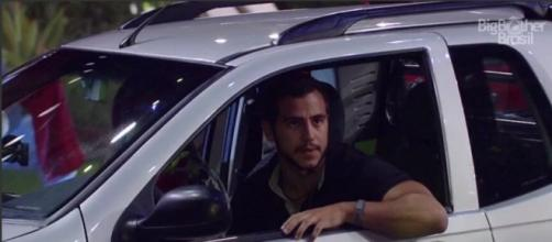 Matheus na prova do líder (Reprodução/Globo)