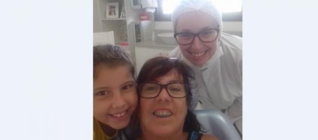 Alice e a avó Eva Rodrigues; dia de manutenção!