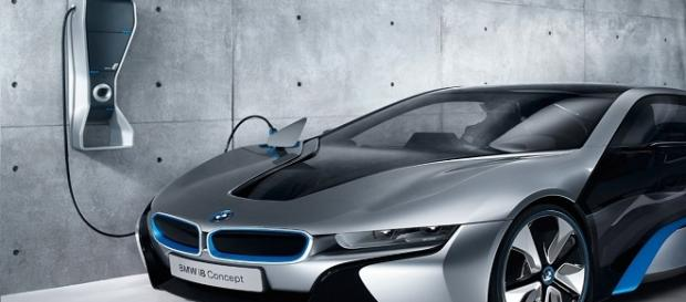 Innovador Coche BMW eléctrico.