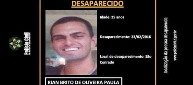 Neto de Chico Anyzio esta desaparecido