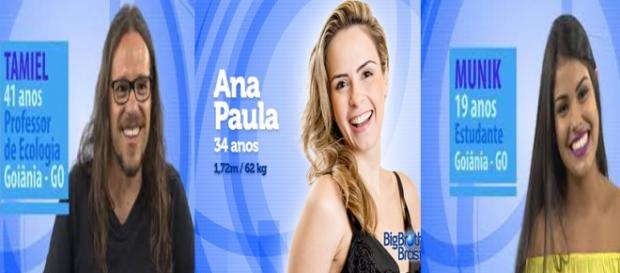 Paredão triplo no BBB16 da Rede Globo