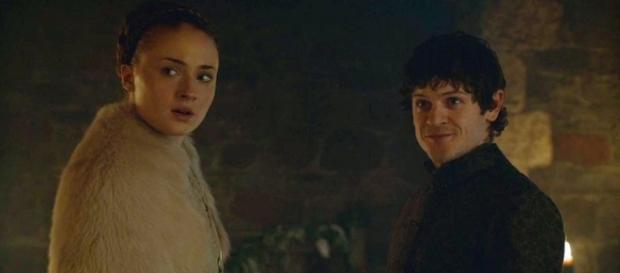Ramsay y Sansa el día de su boda