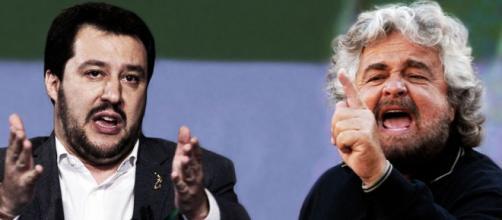Salvini e Grillo, due antagonisti di Renzi.