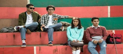 Scena con i quattro protagonisti del film 'Jingga'
