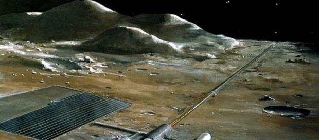 Lunar base concept (Credit NASA)