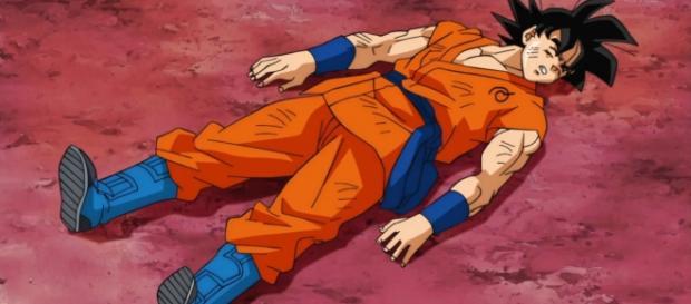 Goku luego de perder contra Frost