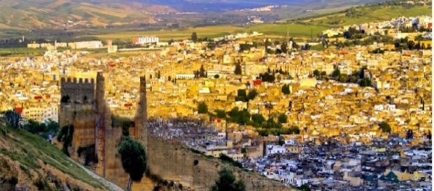 Preciosas vistas de la ciudad de Fez
