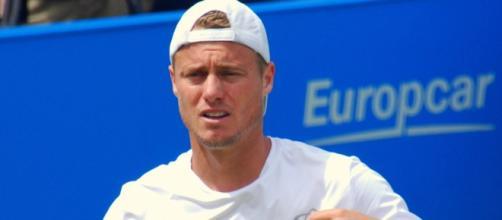 Lleyton Hewitt during a tennis match.