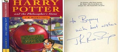 Primera edición autografiada de Harry Potter