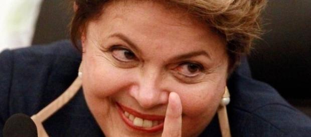 A presidente Dilma Rousseff durante discurso