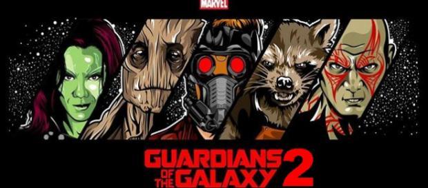 Chris Pratt en el set de Guardianes de la Galaxia