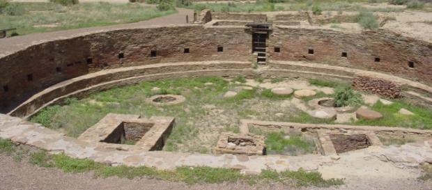 Construcción anasazi en Chaco Canyon