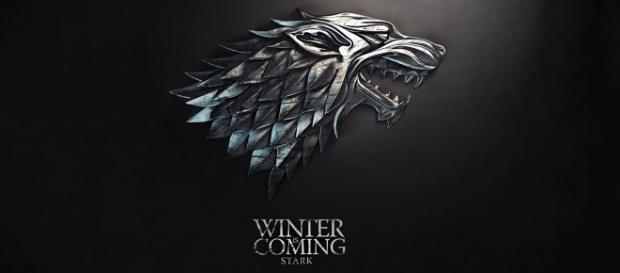 Lo stemma di casa Stark, un metalupo