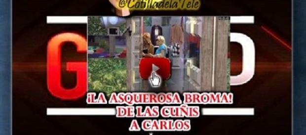Vídeo de la broma de las cuñis a Carlos Lozano