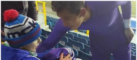 Raul Gudiño ofereceu camisola ao pequeno Leo