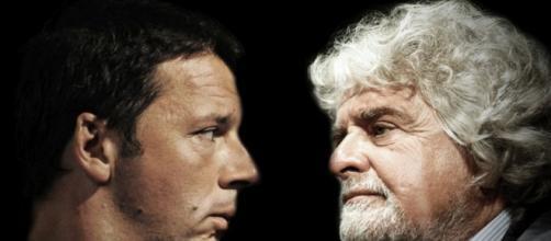 Grillo Vs Renzi: Solo slogan e mancette elettorali