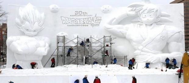 Gokú y Vegeta protagonizan el parque de Sapporo