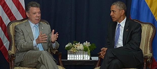 Santos y Obama en reunión este jueves