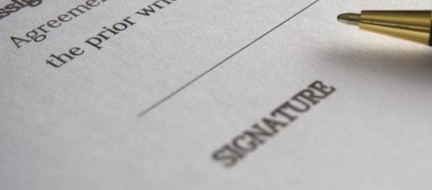Signing contract in your company