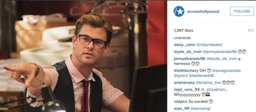 Actor Chris Hemsworth in Ghostbusters Reboot
