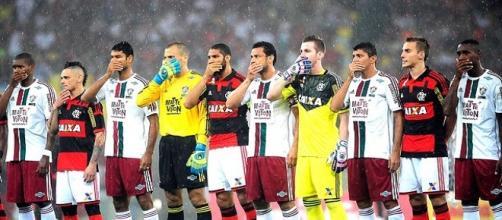 Foto divulgação / Globo. Flamengo e Fluminense