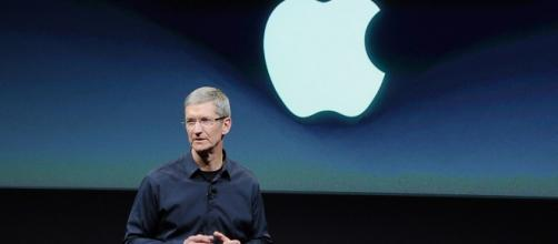 Tim Cook en una keynote de Apple