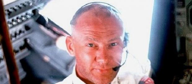 Buzz Aldrin on board Apollo 11 (Credit: NASA)
