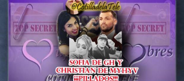 Sofia y Christian Pillados saliendo