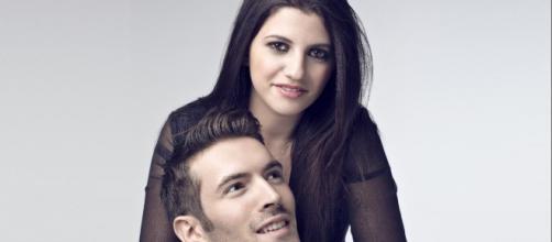 Deborah Iurato e Giovanni Caccamo a Sanremo.
