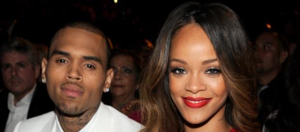 Chris Brown e Rihanna quando estavam juntos