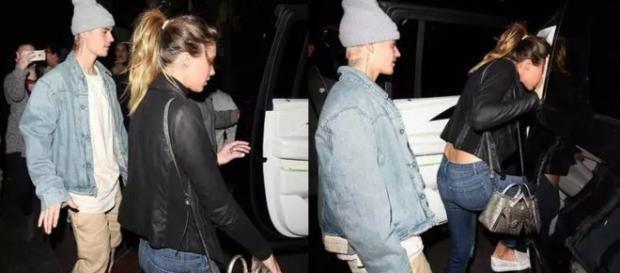Justin aproveitou a noite com sua nova amiga