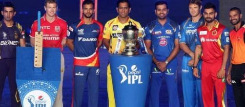 IPL 2016 team captains (Panasiabiz.com)