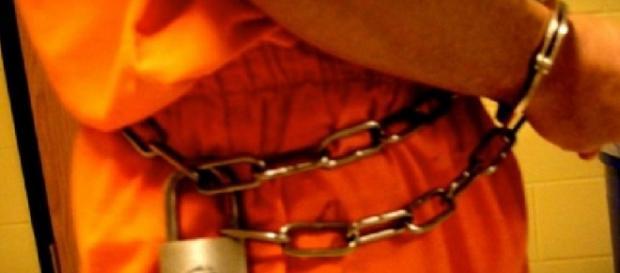 Encadenado en el corredor de la muerte