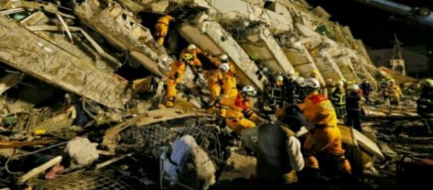 Imagen del Terremoto de Taiwan.