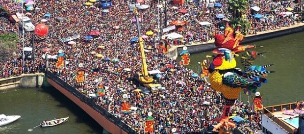 O 'Galo da Madrugada' no Carnaval de Recife