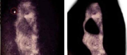 Supuesta imagen del demonio cabeza de cabra