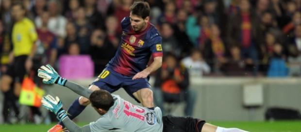 Messi ante el RC Celta. Imagen de barcacentral.com