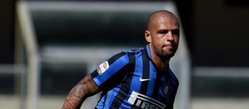 Il brasiliano Melo, centrocampista dell'Inter