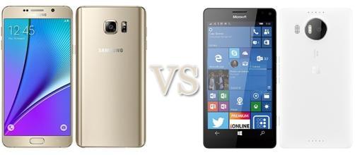 Samsung Galaxy Note 5 vs Microsoft Lumia 950 XL
