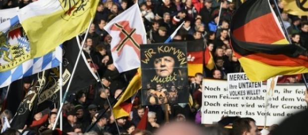 Foto da manifestação: TOBIAS SCHWARZ / AFP