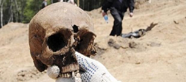 Uno de los cuerpos encontrados en la isla