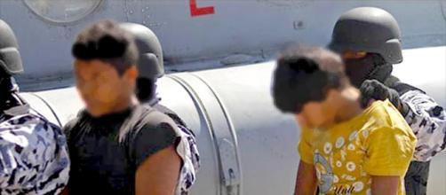 Niños siendo detenidos en una red del narcotráfico