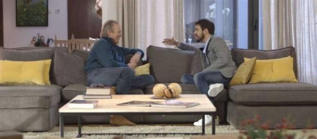 Berín Osborne y Mario Casas durante el programa.