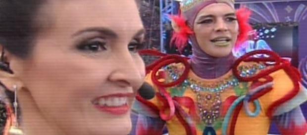 Fátima Bernardes e o Carnaval - Foto/Reprod