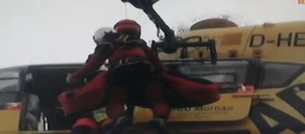 Il soccorso in elicottero dei feriti in Baviera